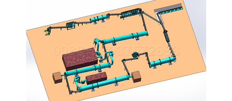 Detailed organic fertilizer pellets production line