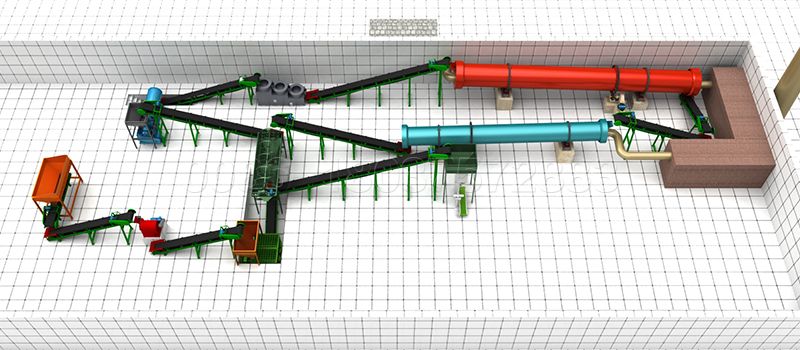 3D Design Layouts for Orgnaic Fertilizer Plants Provided by SEEC Engineer Team