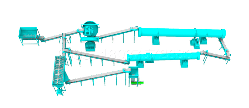 5 ton per hour pan granulator organic fertilizer production line