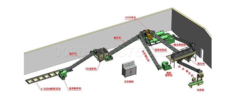 Commercial cow dung fertilizer production line