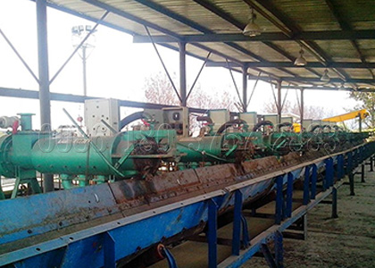Cow Dung Processing Machine for Manure Dewatering