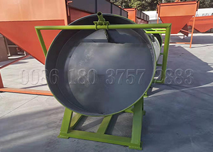 Disc granulator for cow dung fertilizer production