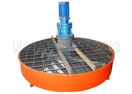 Disc mixer in waste to fertilizer process