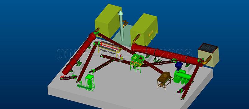 Farm Waste Granulator Fertilizer Production Line