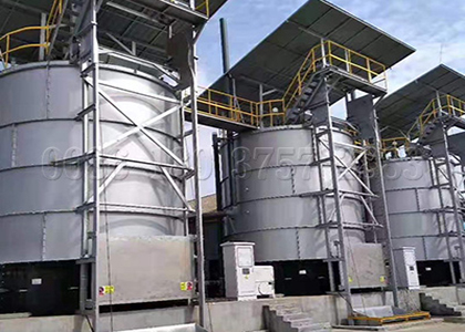 Industrial aerobic fermentation pot
