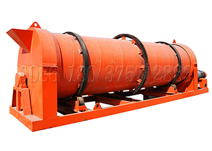Rotary drum churning granulator for bio organic fertilizer