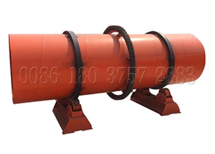 Rotary drum churning granulator