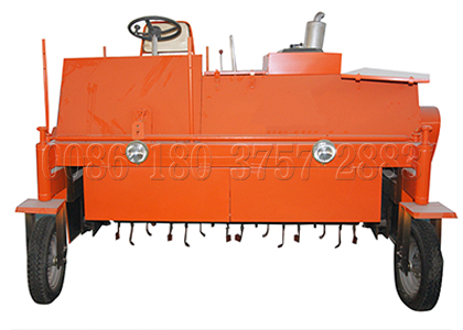 Self-propelled compost turner for composting animal waste