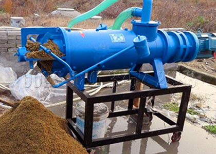 Solid-liquid separator machine for organic fertilizer with high water content