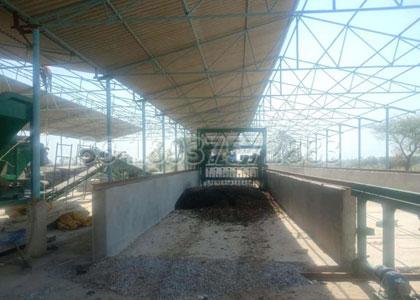 3 ton per hour powder fertilizer production line composting machine installation