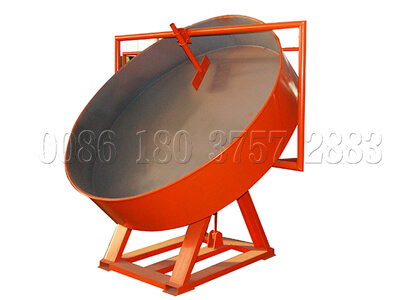 Disc granulator for chicken dung fertilizer production