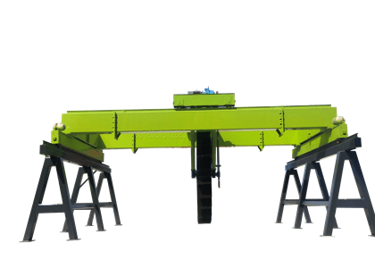 Wheel Type Compost Turner Machine for Large Scale Industrial Composting