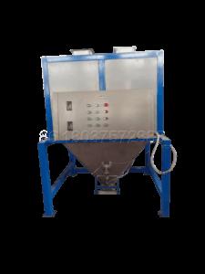 Bagging machine for making farm waste fertilizer