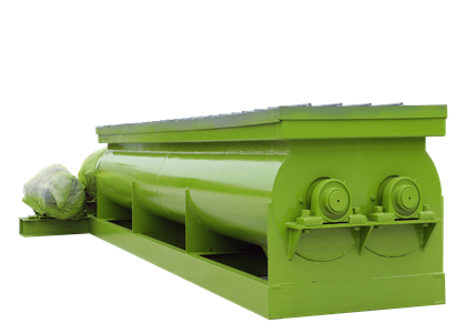Double Shaft Compost Mixer Machine for cow manure mix processing