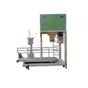 Double buckets fertilizer bagging machine