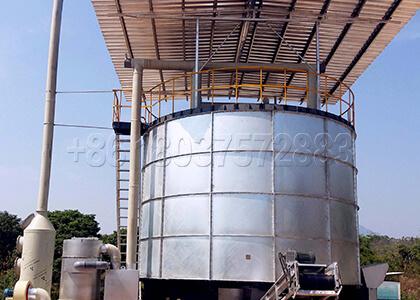Fermentation Tank for Pig Manure Composting at Large Scale
