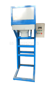 Packing machine without bucket for powdery fertilizer