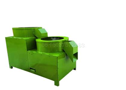 Polishing machine for granular organic fertilizer