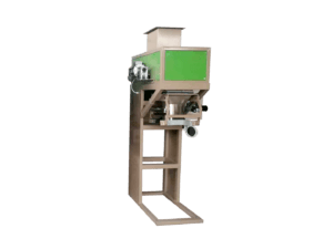 Single bucket packing scale for granular fertilizer