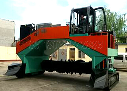 windrow type compost turner